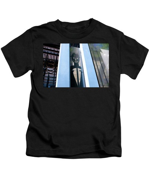 Man Looking At You Through A Window In Seattle Washington Kids T-Shirt