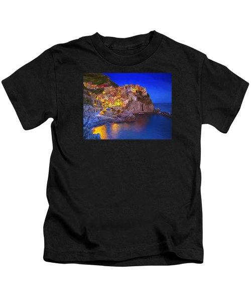 Manarola By Moonlight Kids T-Shirt