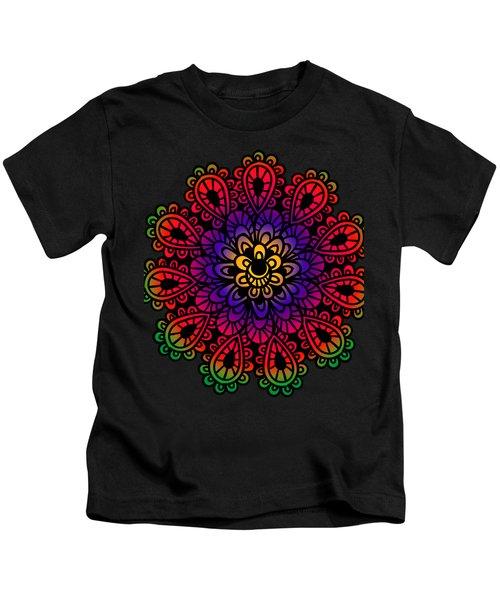 Mandala By Lamplight Kids T-Shirt