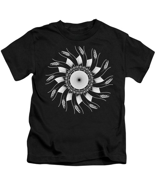 Mandala White And Black Kids T-Shirt