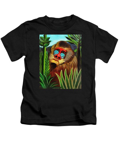 Mandrill In The Jungle Kids T-Shirt