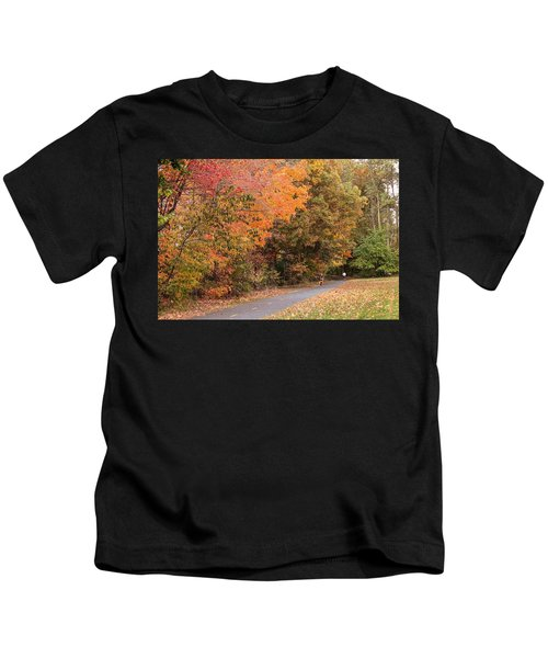 Manhan Rail Trail Fall Colors Kids T-Shirt