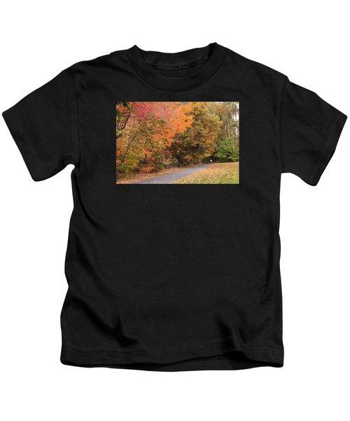 Manhan Rail Trail Fall Colors Kids T-Shirt