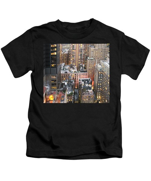 Manhattan At Dusk Kids T-Shirt