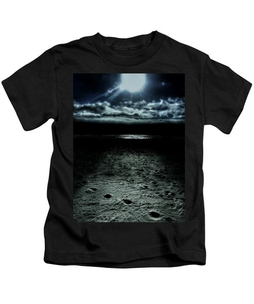 Manhattan Beach Dark Kids T-Shirt