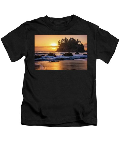 Marine Layer Sunset At Trinidad, California Kids T-Shirt