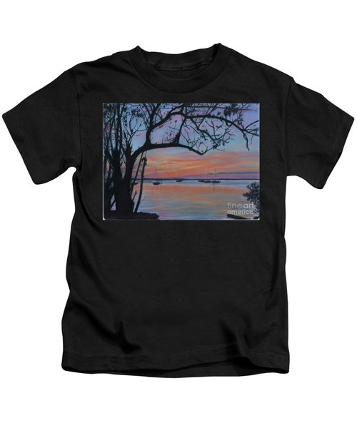 Marsh Harbour At Sunset Kids T-Shirt