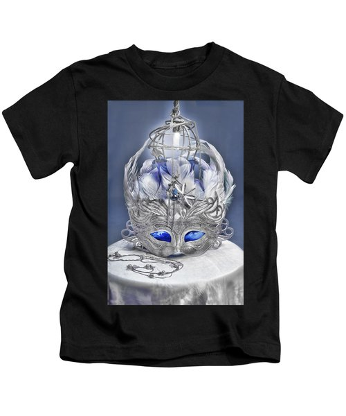 Mask Still Life Blue Kids T-Shirt