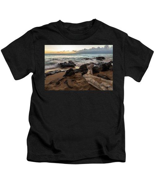 Maui Beach Sunset Kids T-Shirt
