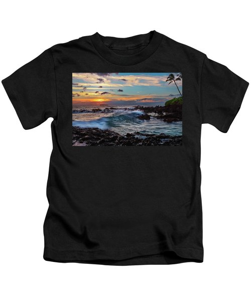 Maui Sunset At Secret Beach Kids T-Shirt