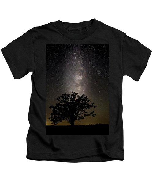 Mcbaine Bur Oak With Milky Way Kids T-Shirt