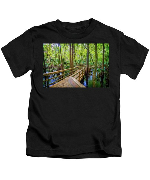 Meandering Walk Through The Forest Kids T-Shirt
