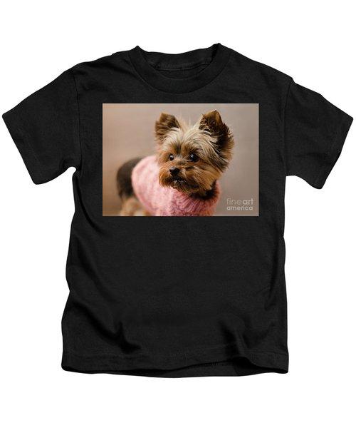 Melanie In Pink Mohair  Kids T-Shirt