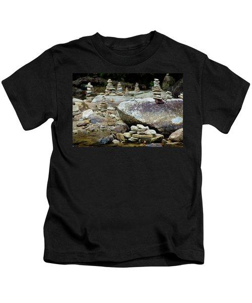 Memorial Stacked Stones Kids T-Shirt