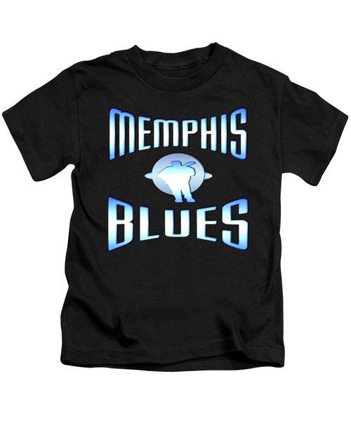 Memphis Blues Music Design Kids T-Shirt