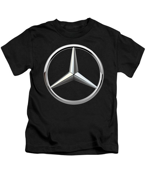 Mercedes-benz - 3d Badge On Black Kids T-Shirt by Serge Averbukh