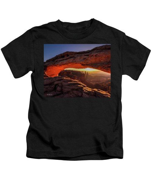 Mesa Arch At Sunrise 1, Canyonlands National Park, Utah Kids T-Shirt
