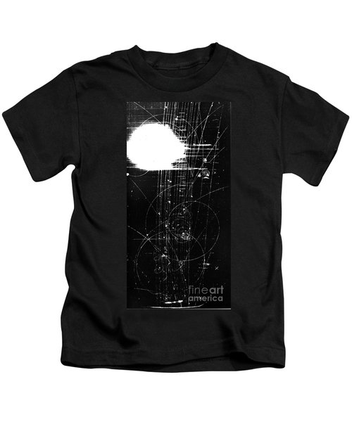 Mesons, Bubble Chamber Event Kids T-Shirt