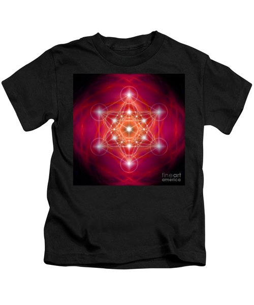 Metatron's Cube Female Energy Kids T-Shirt