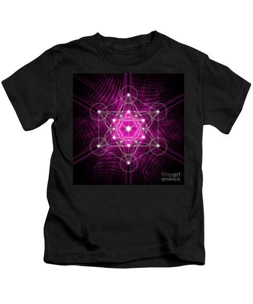 Metatron's Cube Waves Kids T-Shirt