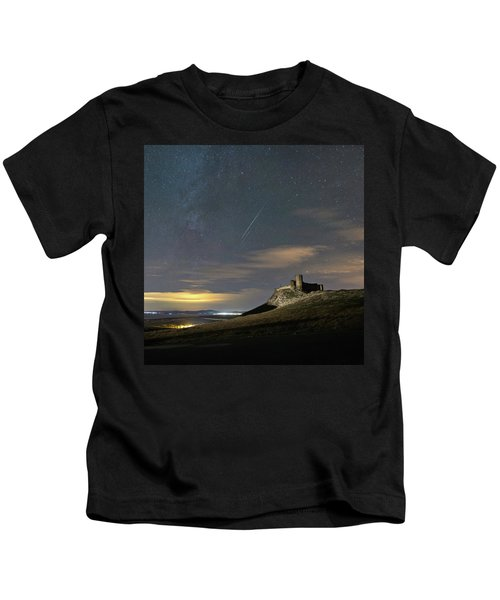 Meteors Above The Fortress Kids T-Shirt