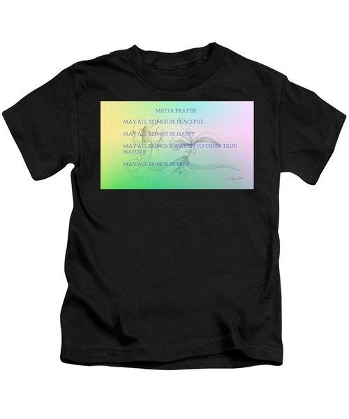 Metta Prayer Kids T-Shirt