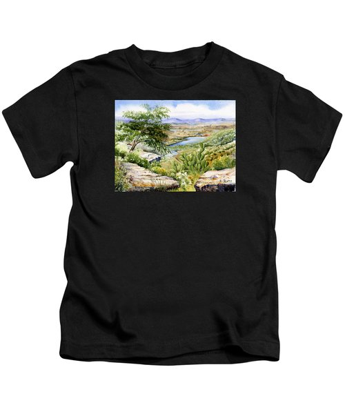 Mexican Landscape Watercolor Kids T-Shirt