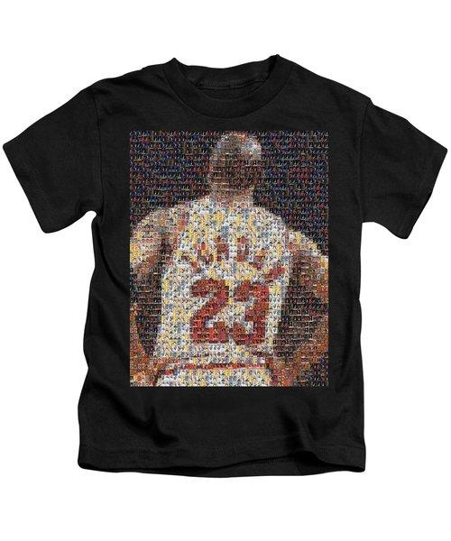 Michael Jordan Card Mosaic 2 Kids T-Shirt