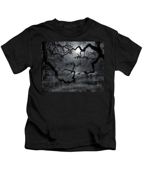 Midnight In The Graveyard II Kids T-Shirt