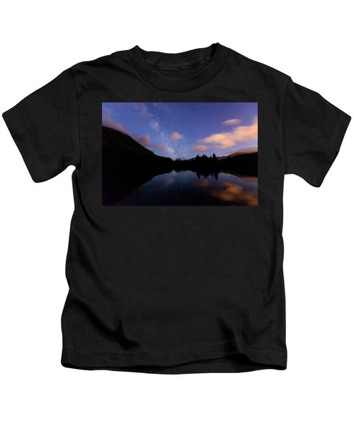Milky Way At Snoqualmie Pass Kids T-Shirt