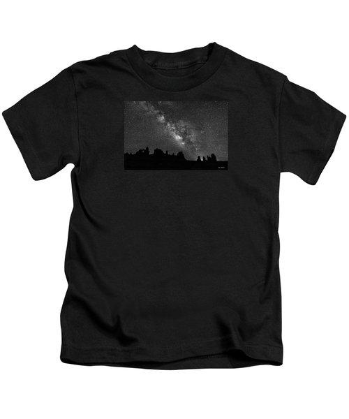 Milky Way At The Windows Kids T-Shirt