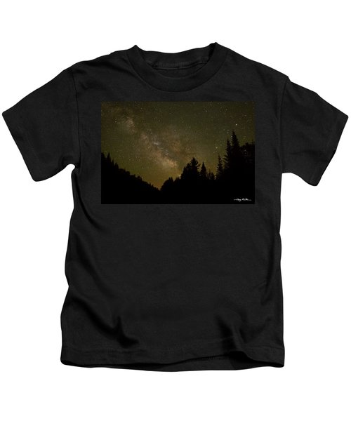 Milky Way In The Whites Kids T-Shirt