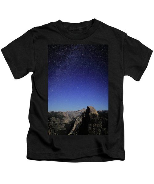 Milky Way Over Half Dome Kids T-Shirt