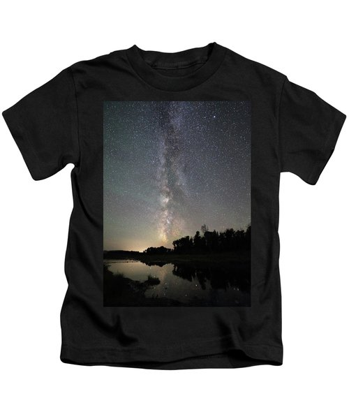 Milky Way Over Schwabacher's Landing Kids T-Shirt
