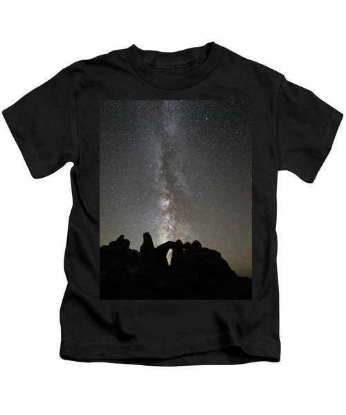 Milky Way Over Turret Arch Kids T-Shirt
