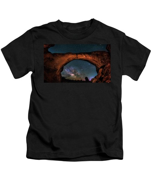 Milky Way Under The Arch Kids T-Shirt
