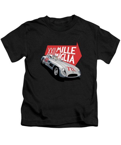 Mille Miglia Xxii 1955 Kids T-Shirt