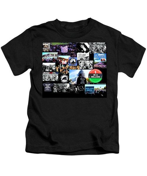 Million Man March Montage Kids T-Shirt