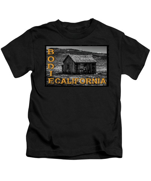 Mine Shack At Bodie Ghost Town Kids T-Shirt