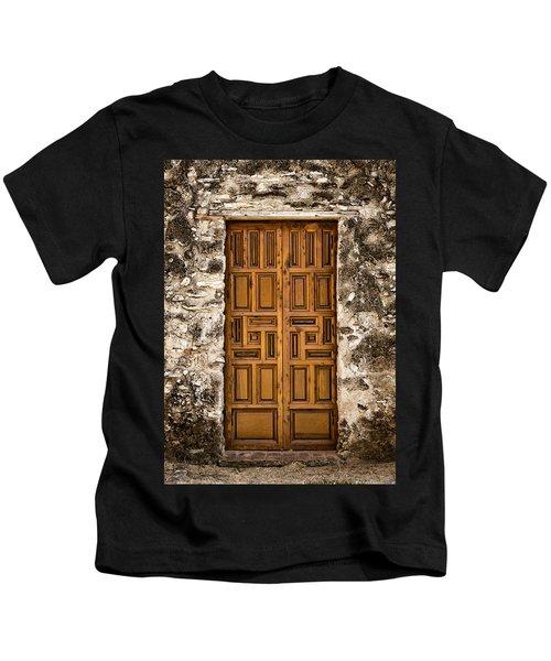 Mission Concepcion Door #3 Kids T-Shirt