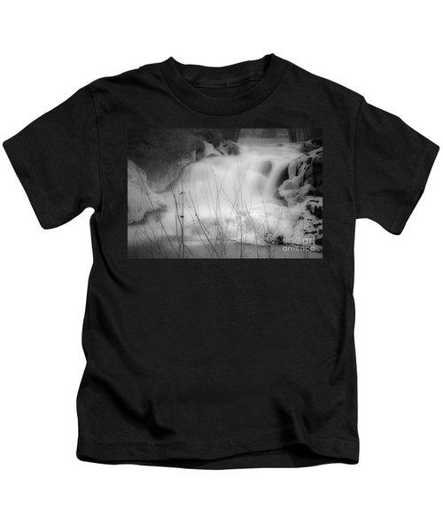 Misty Icy Waterfall Kids T-Shirt