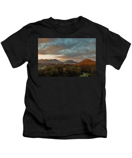 Misty Morning Over The San Diego River Kids T-Shirt