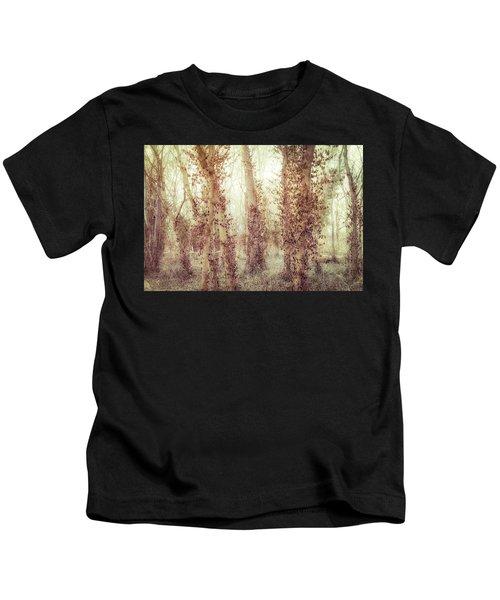 Misty Morning Winter Forest  Kids T-Shirt