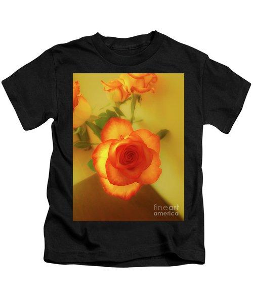 Misty Orange Rose Kids T-Shirt