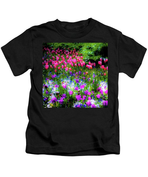Mixed Flowers And Tulips Kids T-Shirt