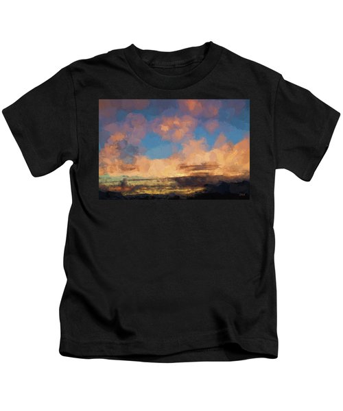 Moab Sunrise Abstract Painterly Kids T-Shirt