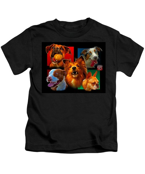 Modern Dog Art - 0001 Kids T-Shirt