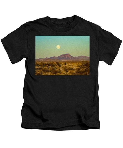 Mohave Desert Moon Kids T-Shirt