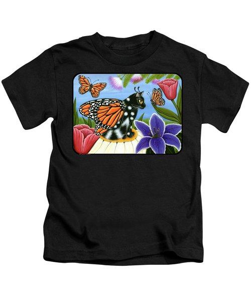 Monarch Butterfly Fairy Cat Kids T-Shirt
