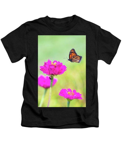 Monarch In Flight 1 Kids T-Shirt